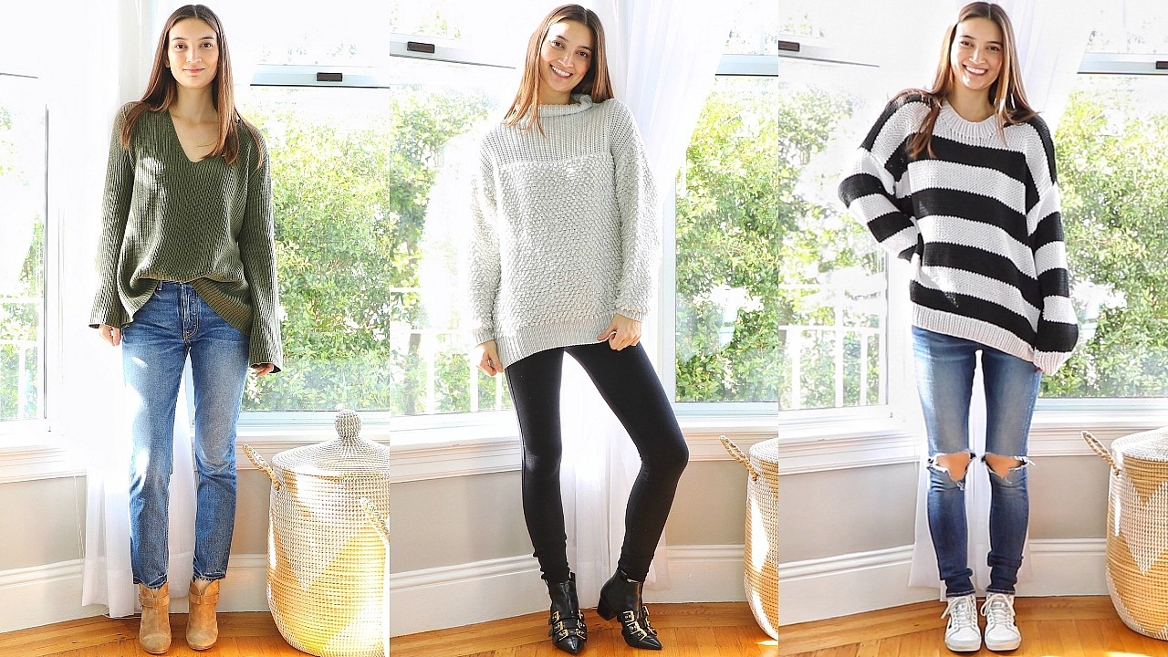 How To Style Oversized Knit Sweater