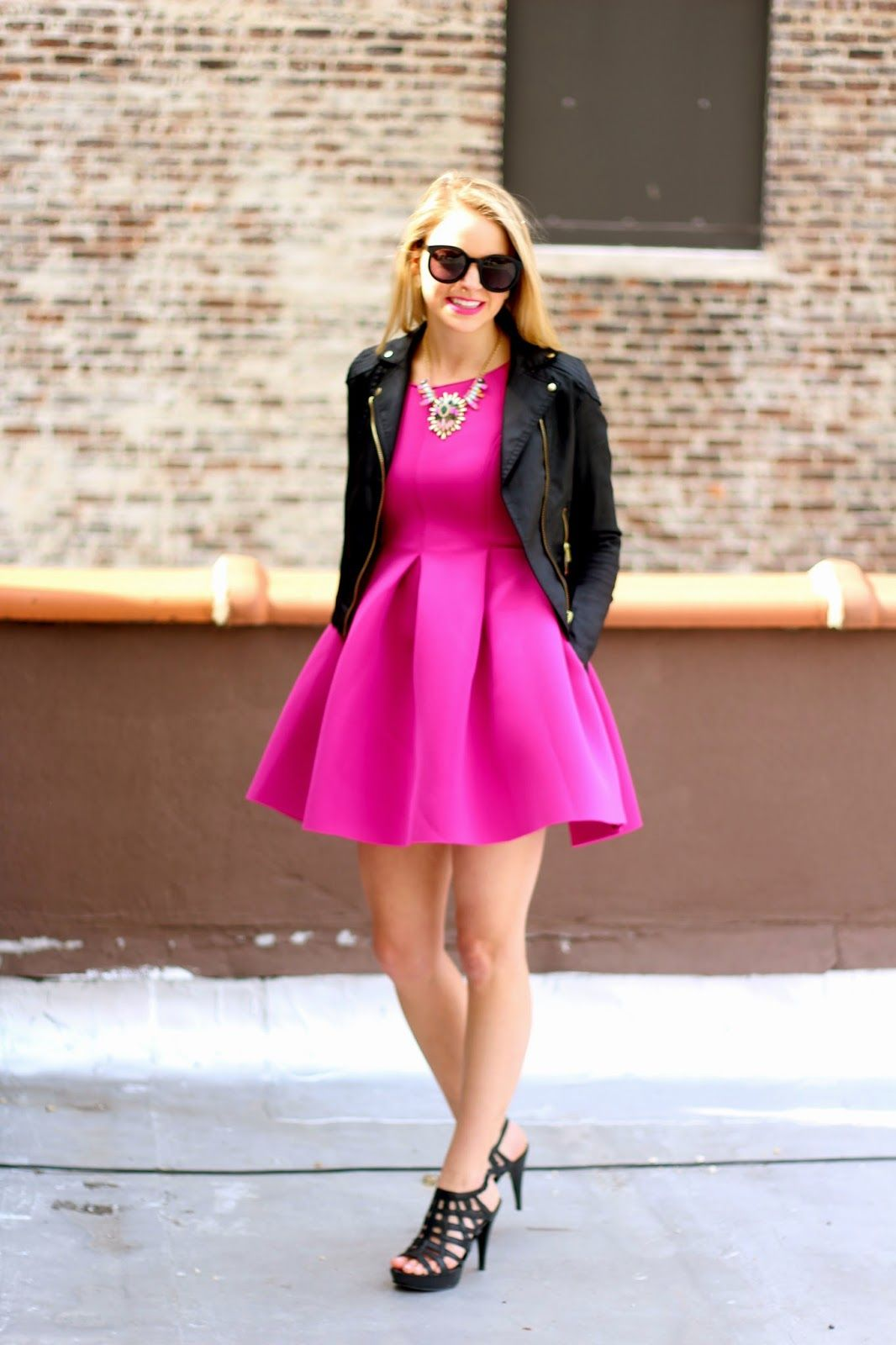 How To Style Pink Skater Dress