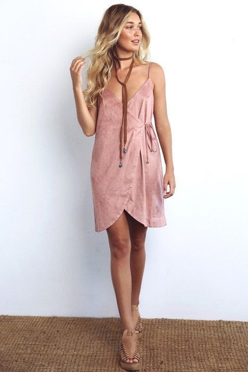 How To Style Pink Wrap Dress