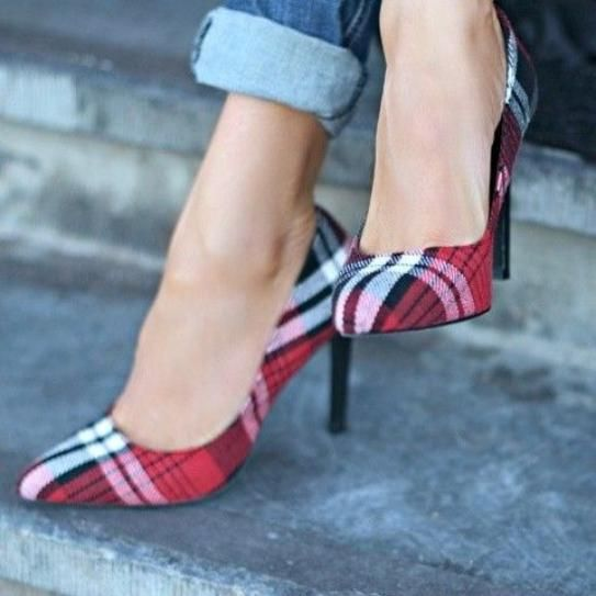 How To Style Plaid Heels