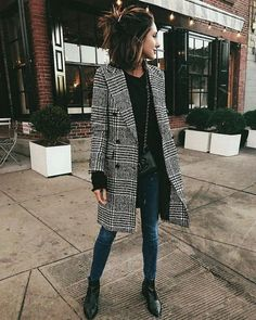 How To Style Plaid Wool Coat