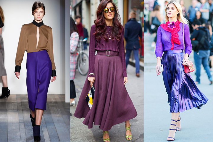 How To Style Purple Skirt