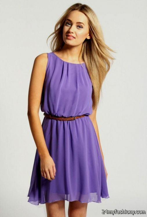 How To Style Purple Sundress
