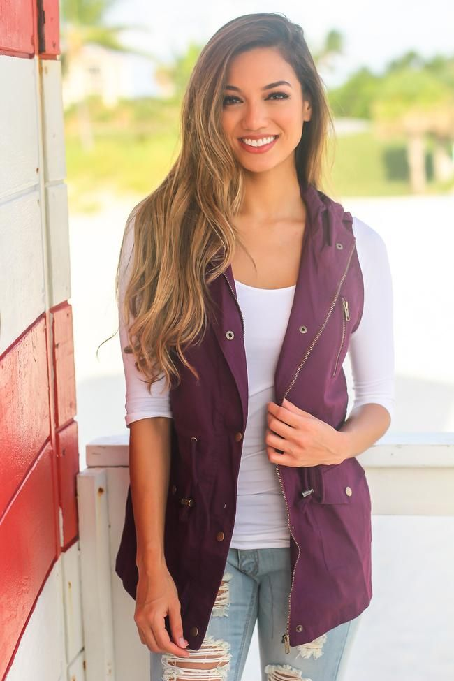 How To Style Purple Vest