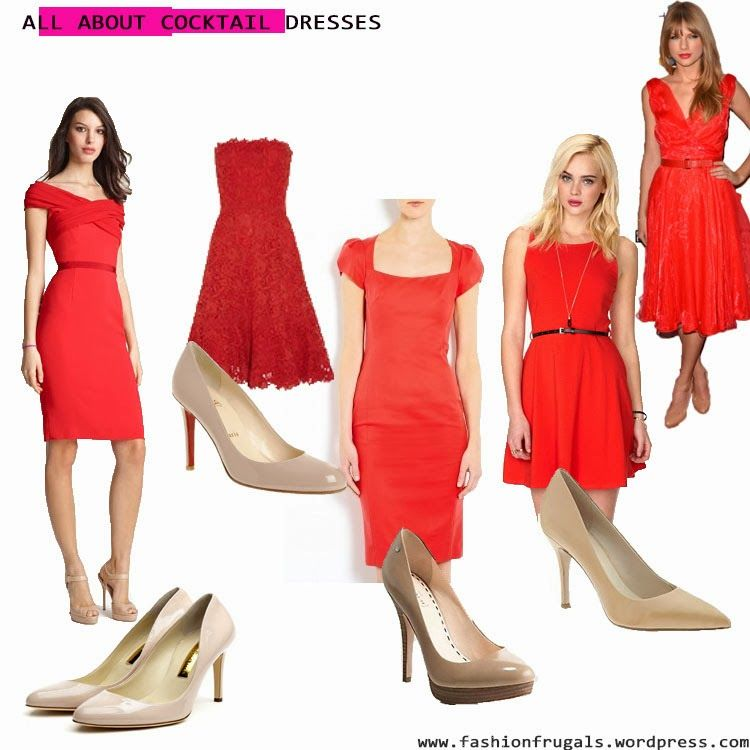 How To Style Red Cocktail Dress