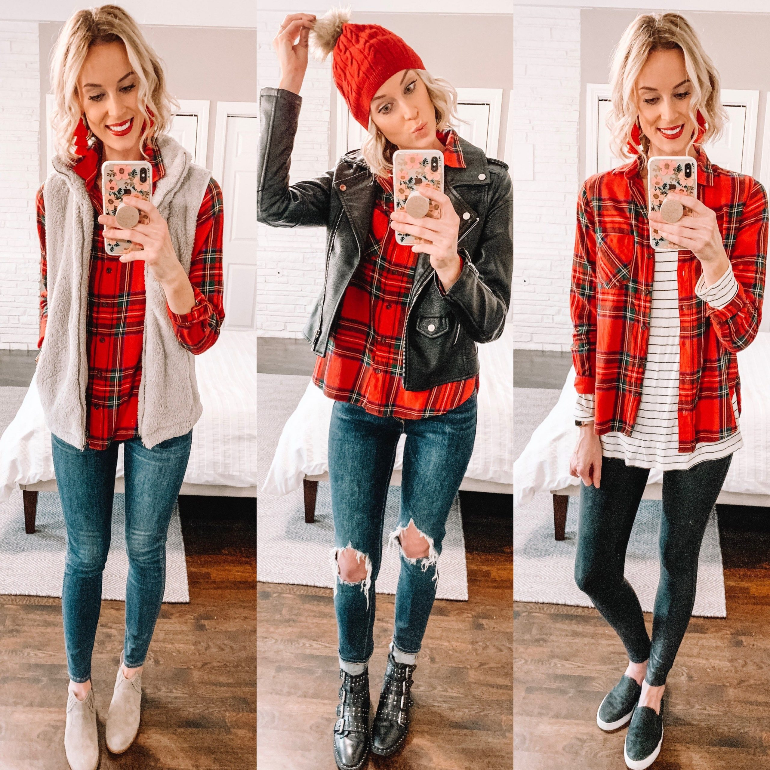 How To Style Red Flannel Shirt