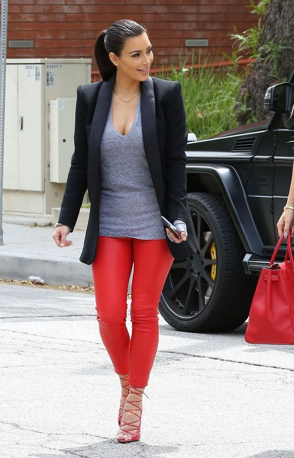 How To Style Red Leggings
