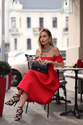 How To Style Red Midi Dress