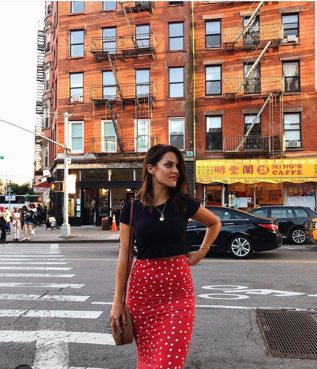 How To Style Red Polka Dot Skirt