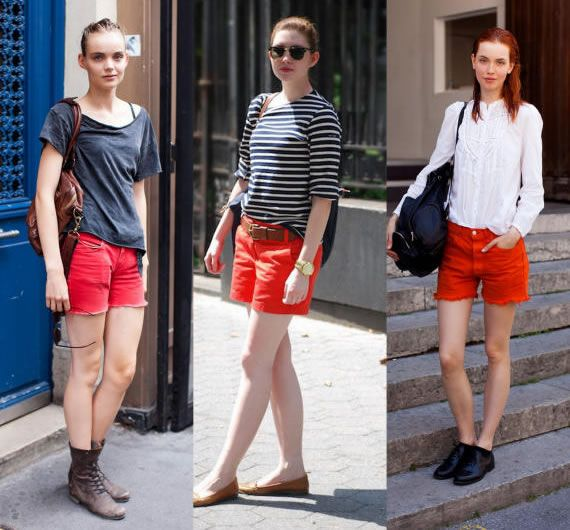 How To Style Red Shorts