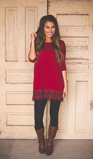 How To Style Red Tunic