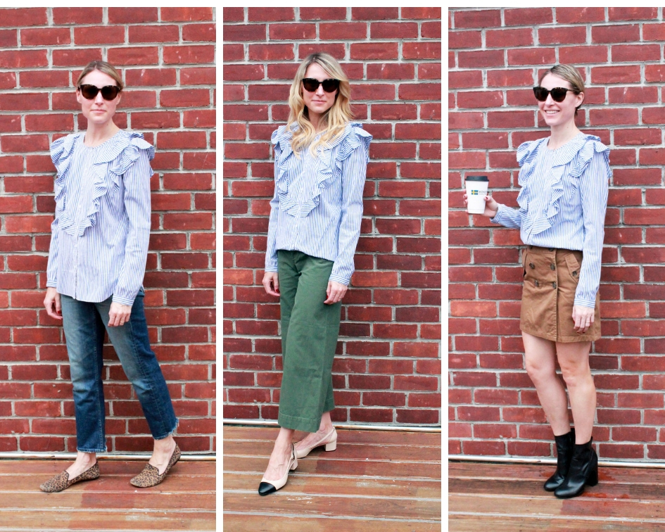 How To Style Ruffle Shirt