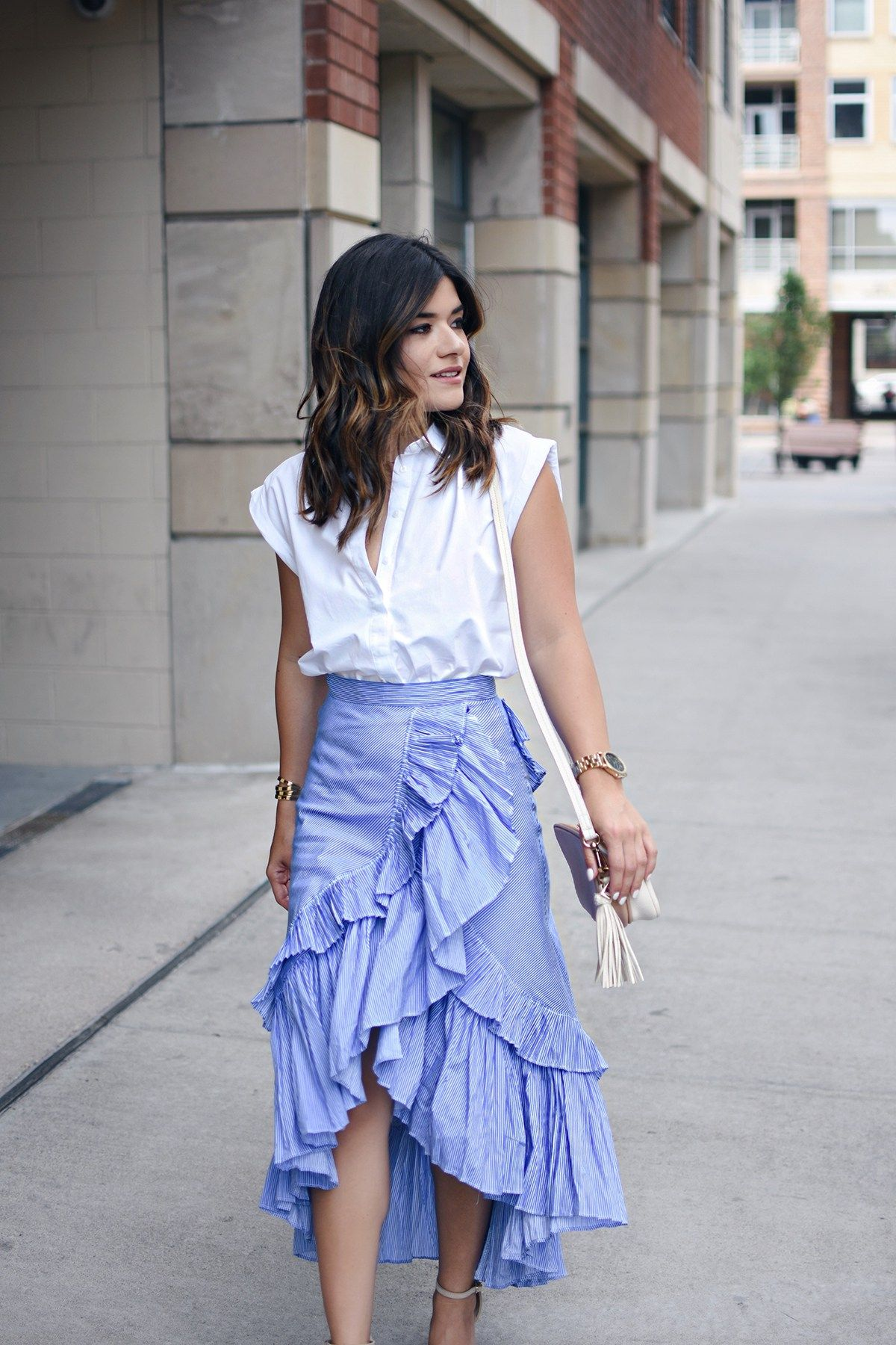 How To Style Ruffle Skirt
