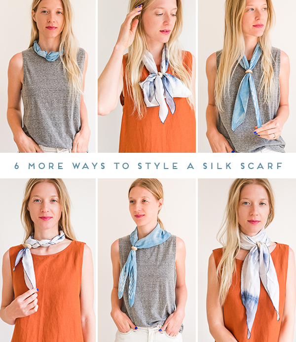 How To Style Silk Choker Scarf