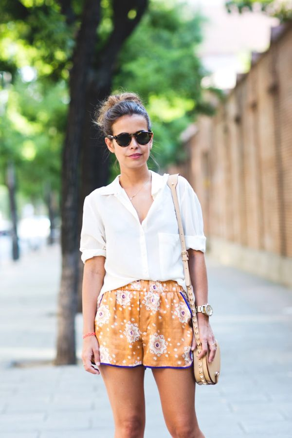How To Style Silk Shorts