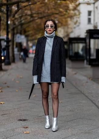 How To Style Silver Ankle Boots