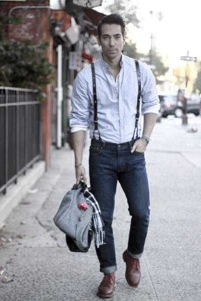 How To Style Suspender Jeans