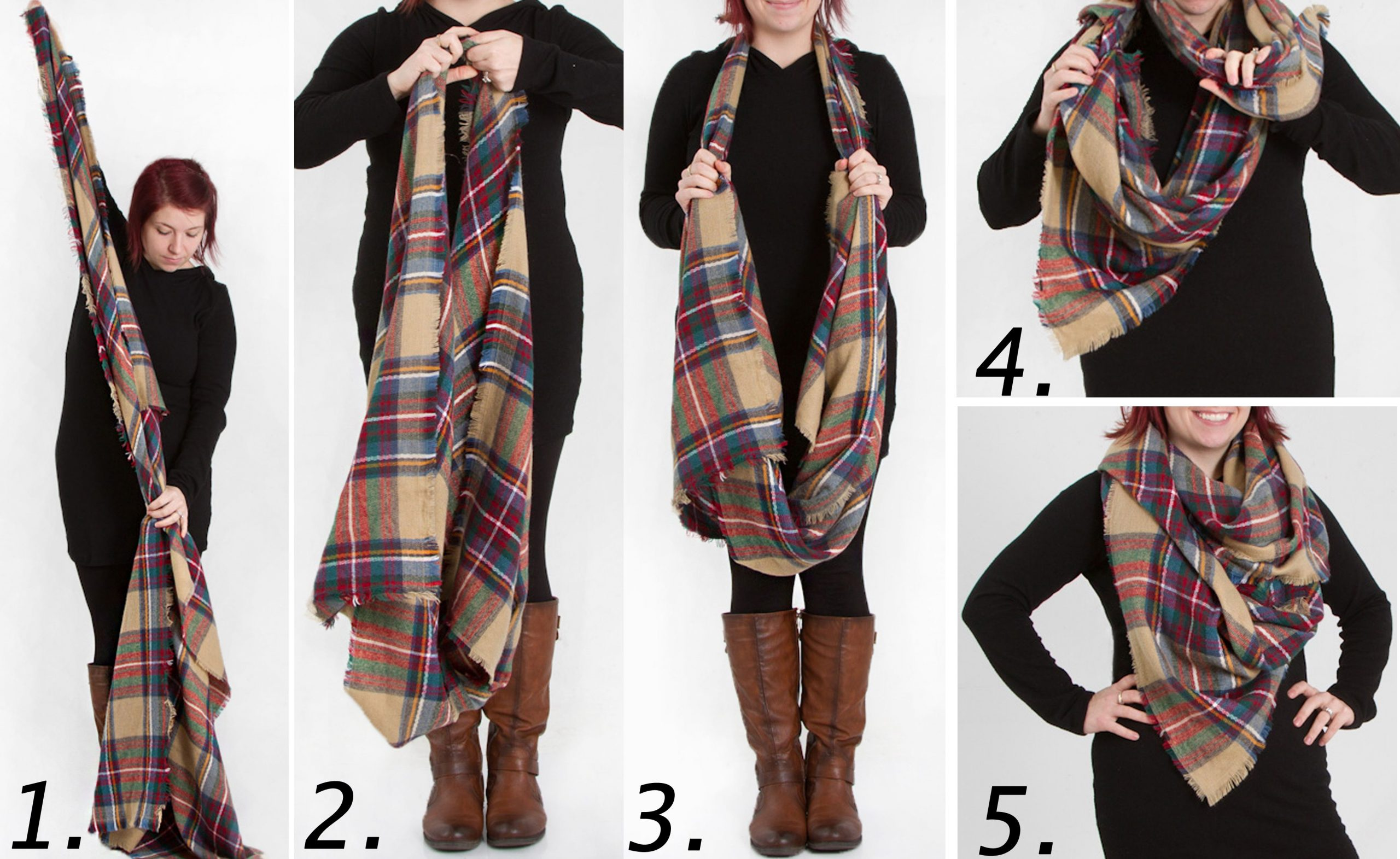 How To Style Tartan Scarf