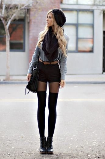 How To Style Thigh High Tights