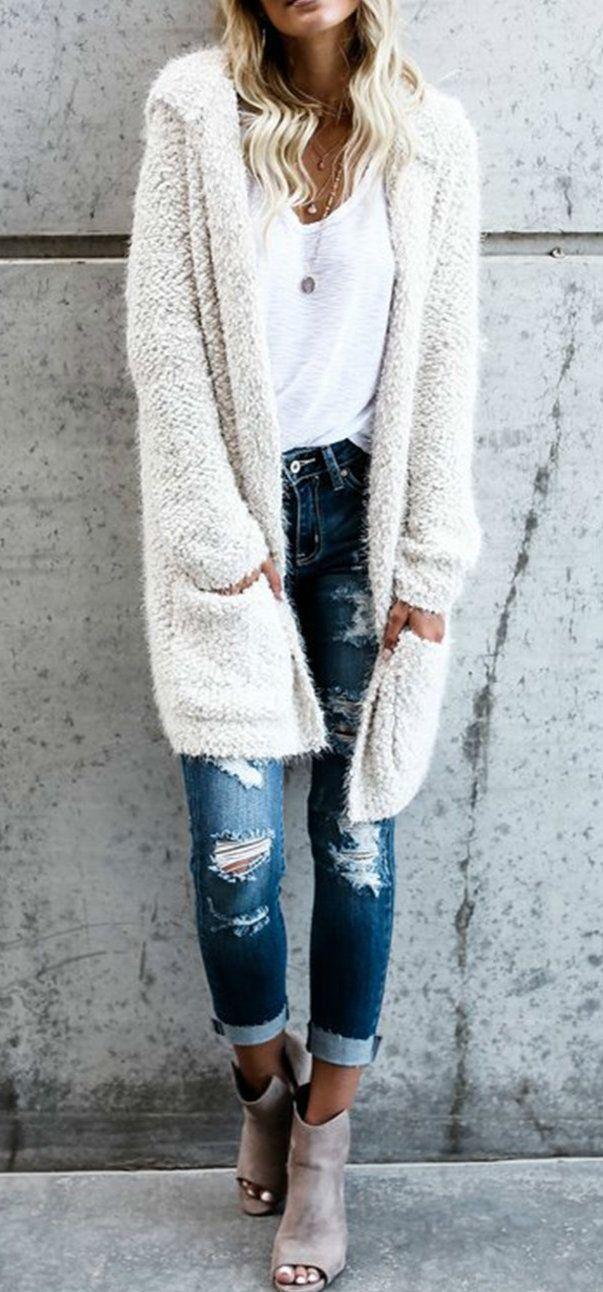 How To Style White Cardigan Sweater