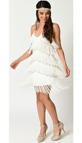 How To Style White Flapper Dress
