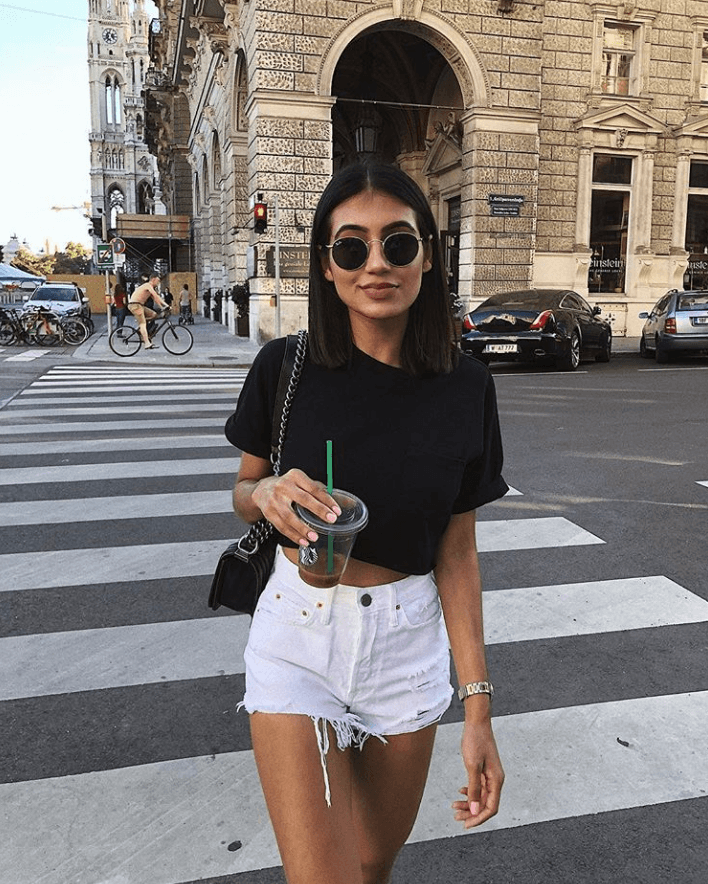 How To Style White Jean Shorts