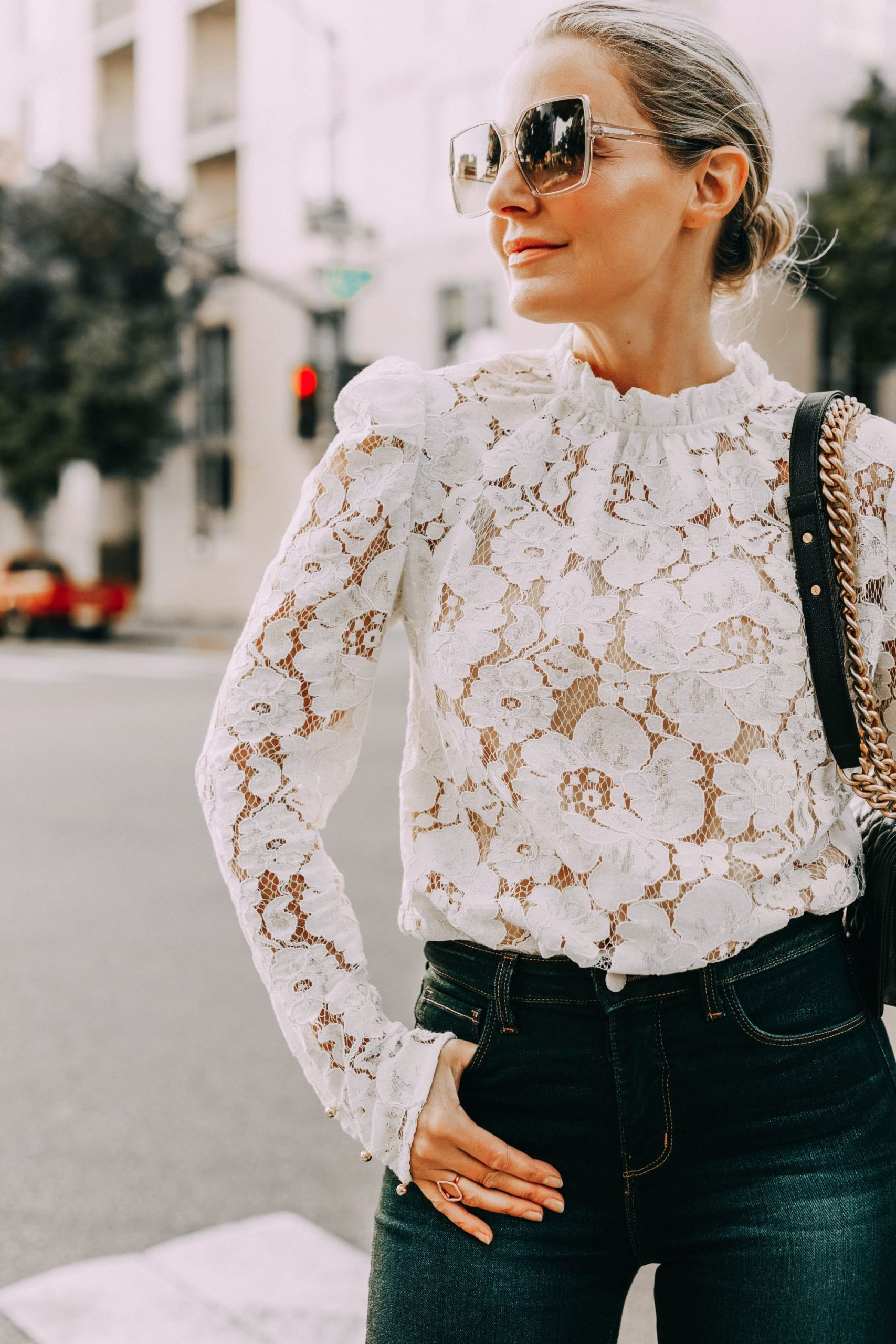How To Style White Lace Shirt