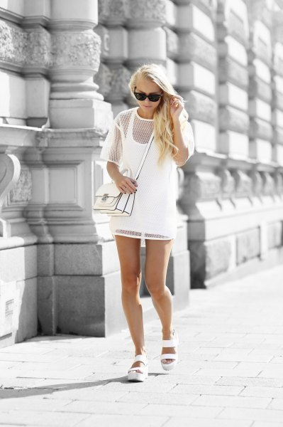 How To Style White Mesh Dress