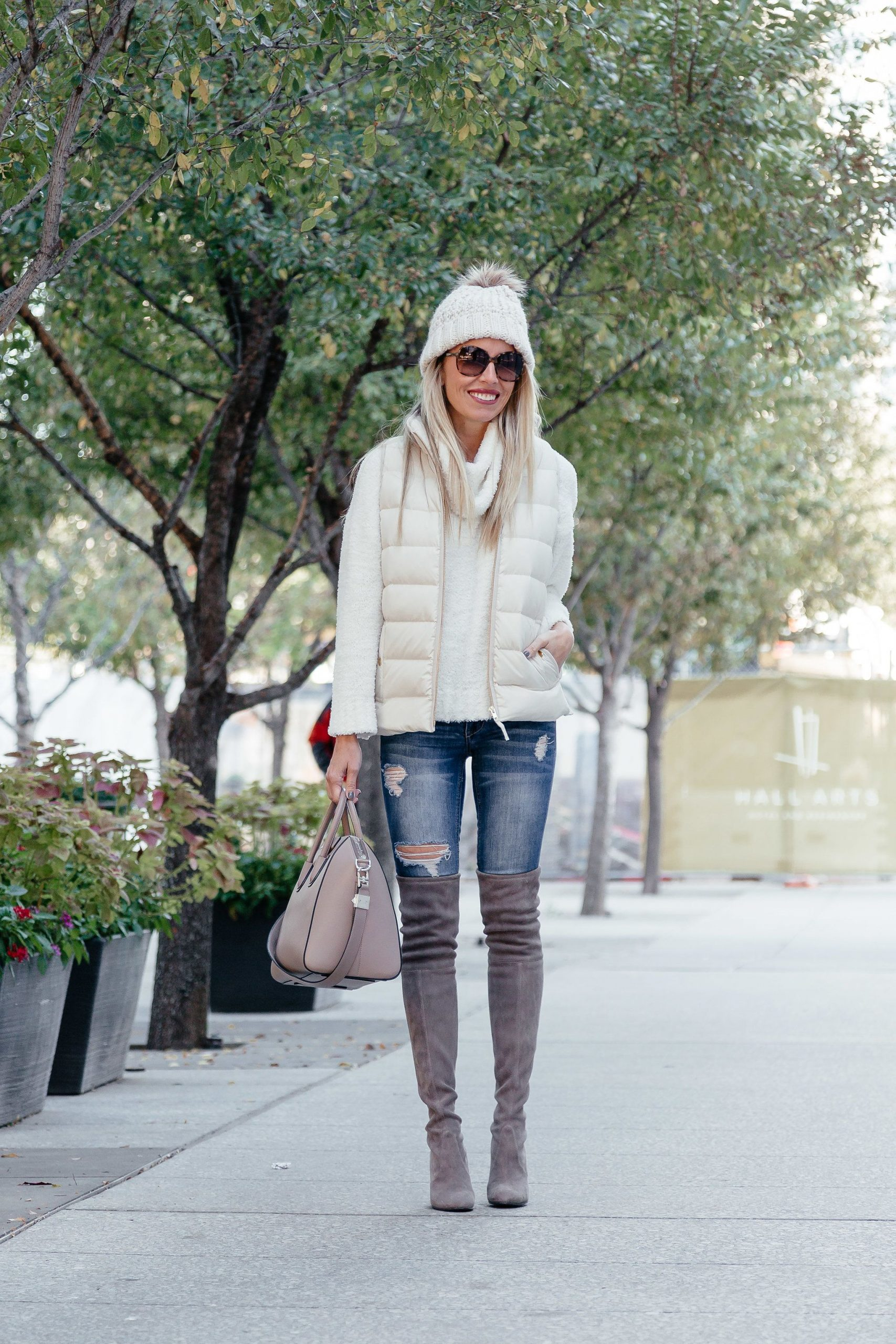 How To Style White Puffer Vest