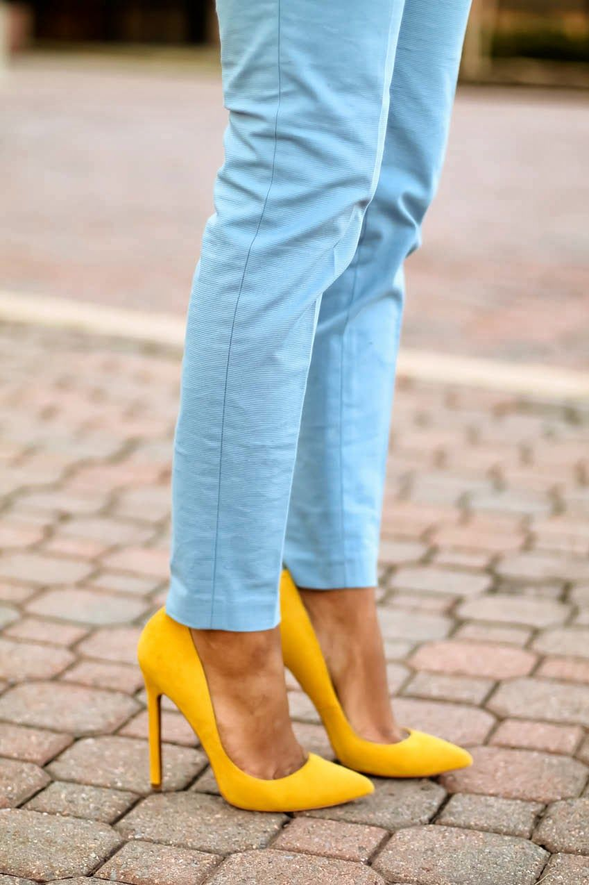 How To Style Yellow High Heels