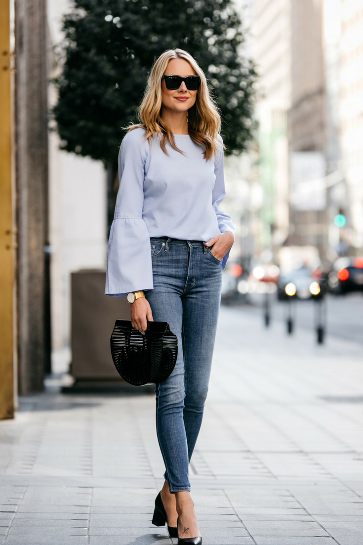 How To Wear Bell Sleeve Blouse