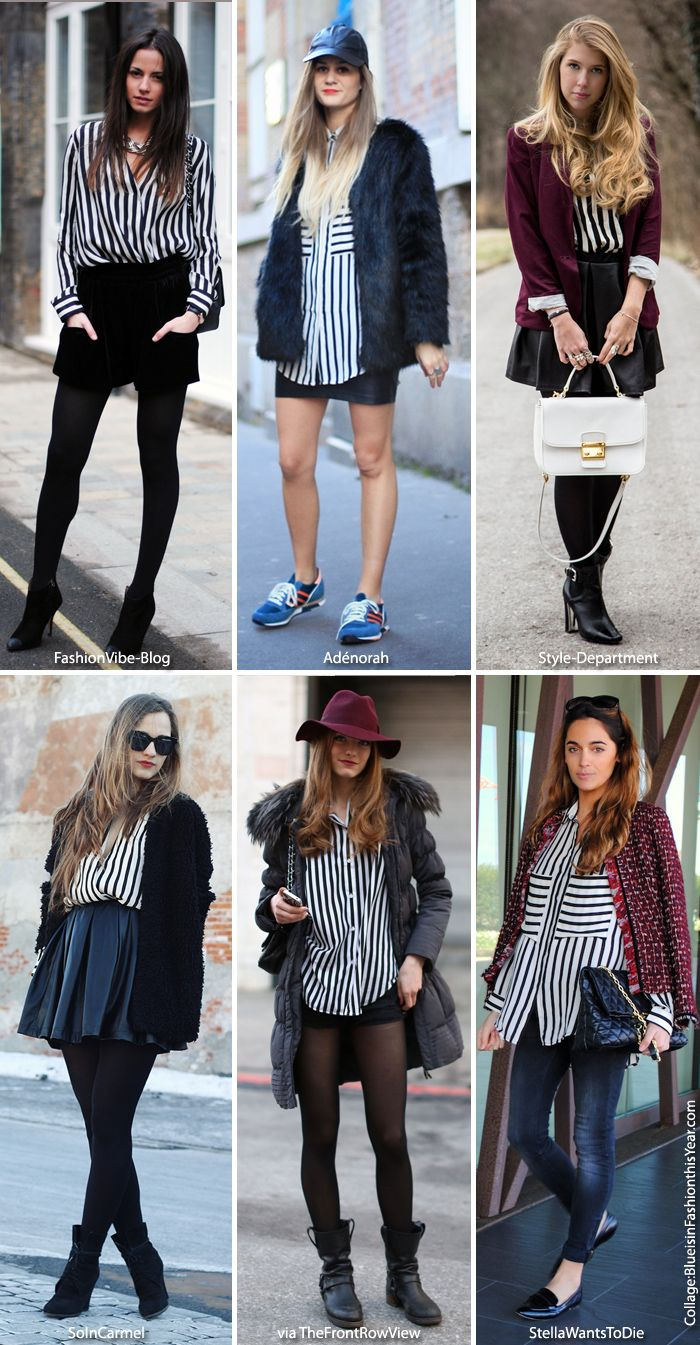 How To Wear Black And White Striped Shirt