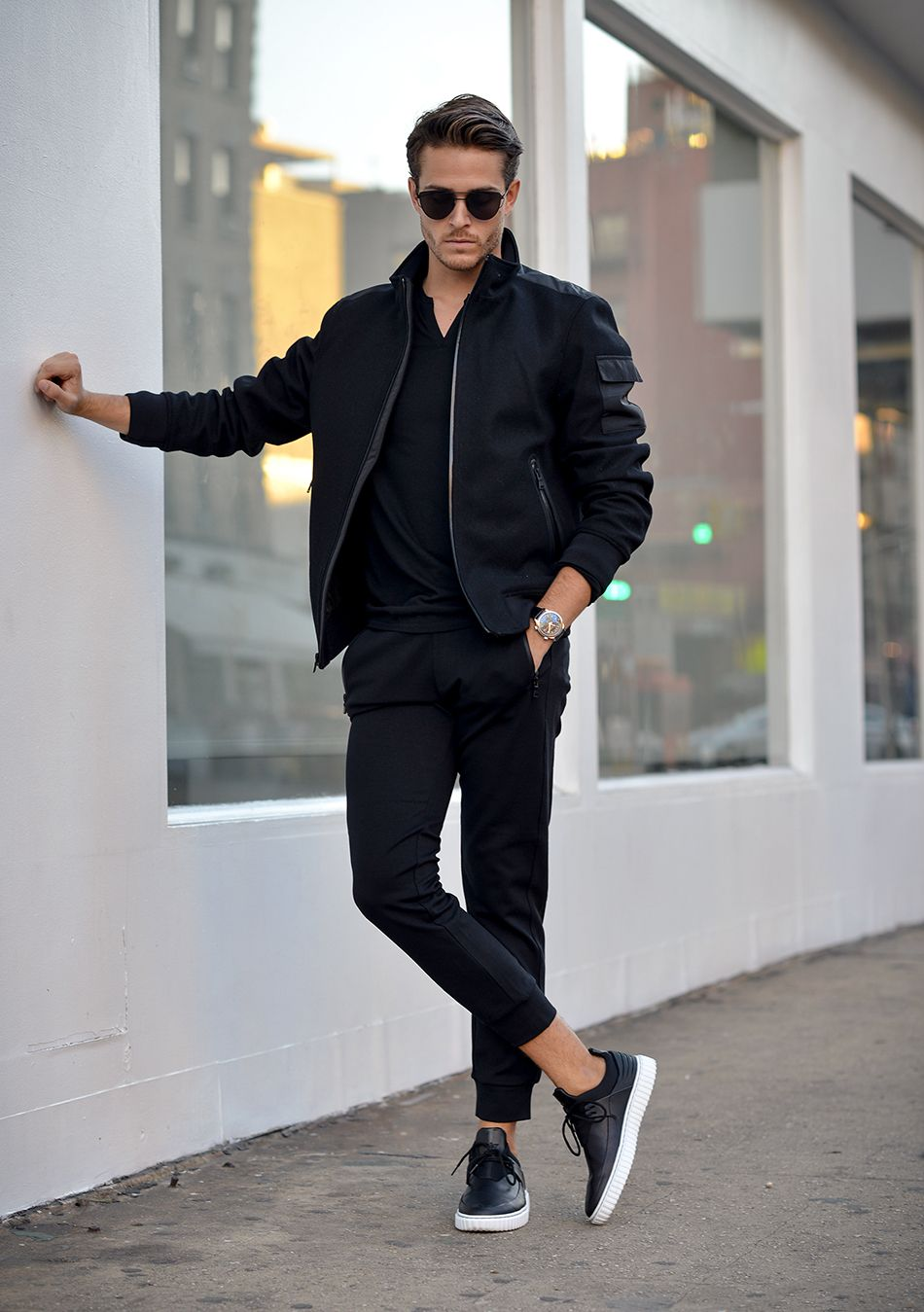 How To Wear Black Bomber Jacket