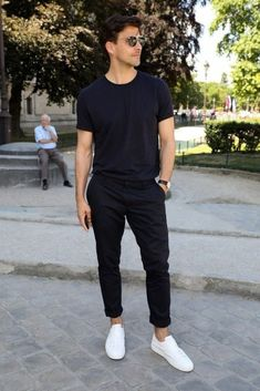 How To Wear Black Chinos