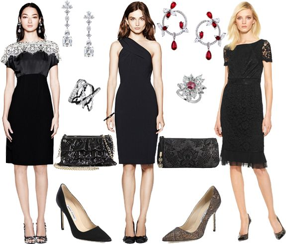 How To Wear Black Cocktail Dress