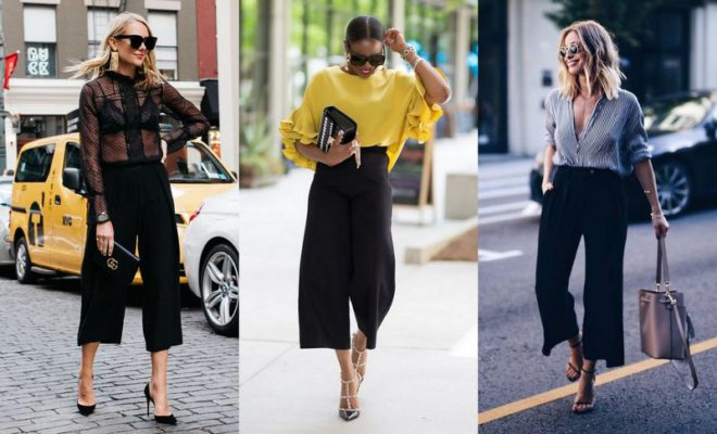 How To Wear Black Culottes