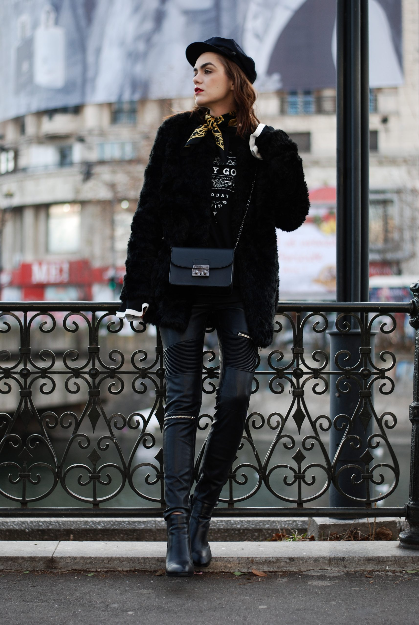 How To Wear Black Faux Leather Jacket