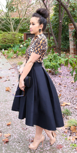 How To Wear Black High Low Skirt
