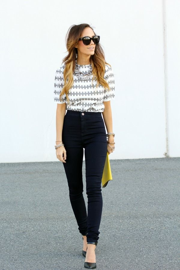 How To Wear Black High Waisted Jeans