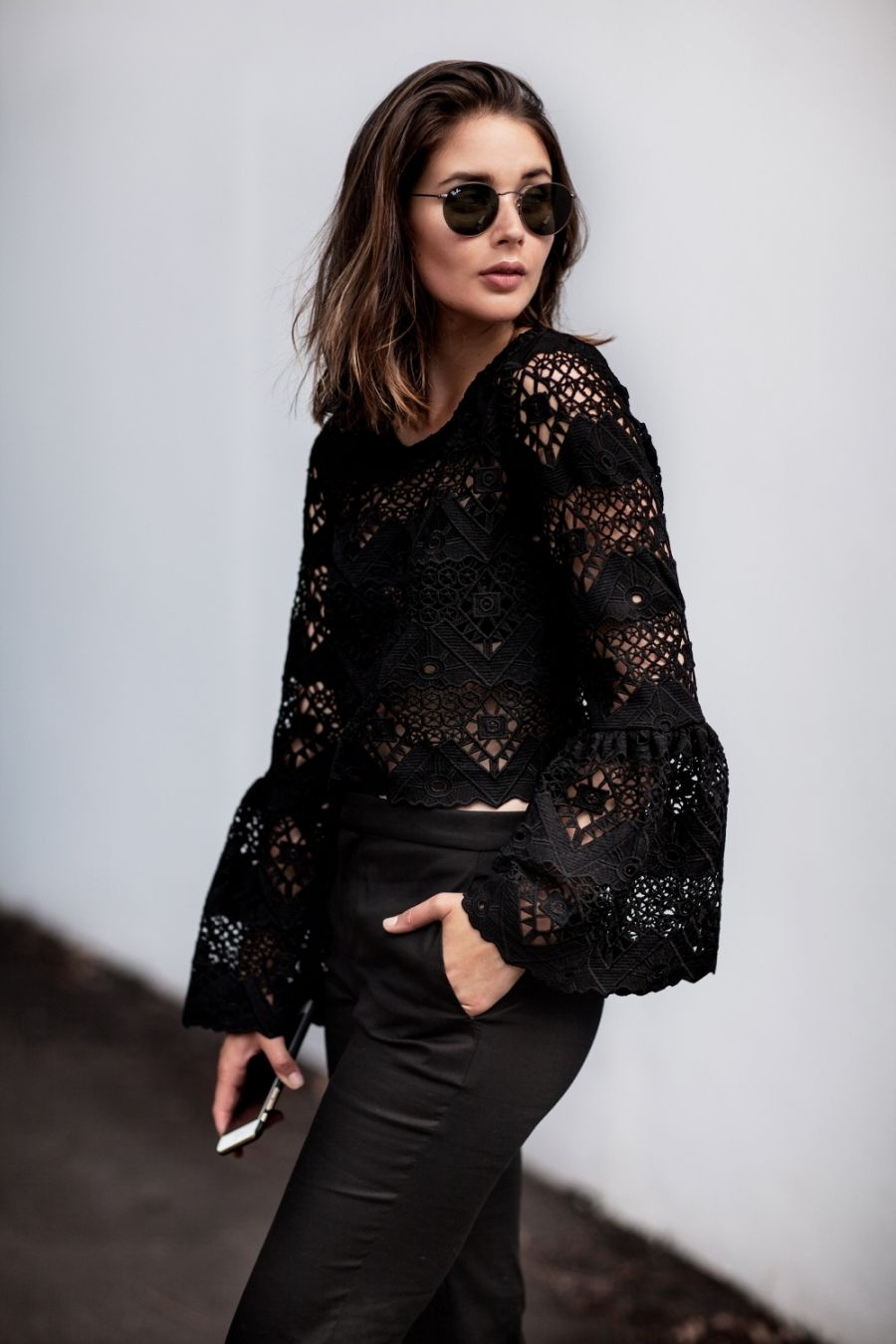 How To Wear Black Lace Shirt