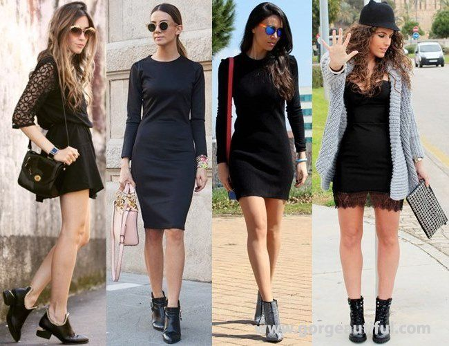 How To Wear Black Short Boots