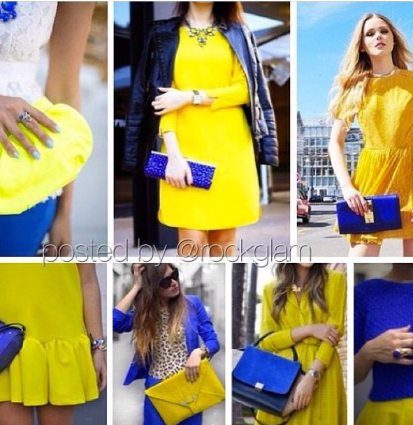 How To Wear Blue And Yellow Together