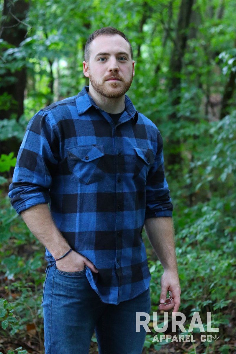 How To Wear Blue Flannel Shirt