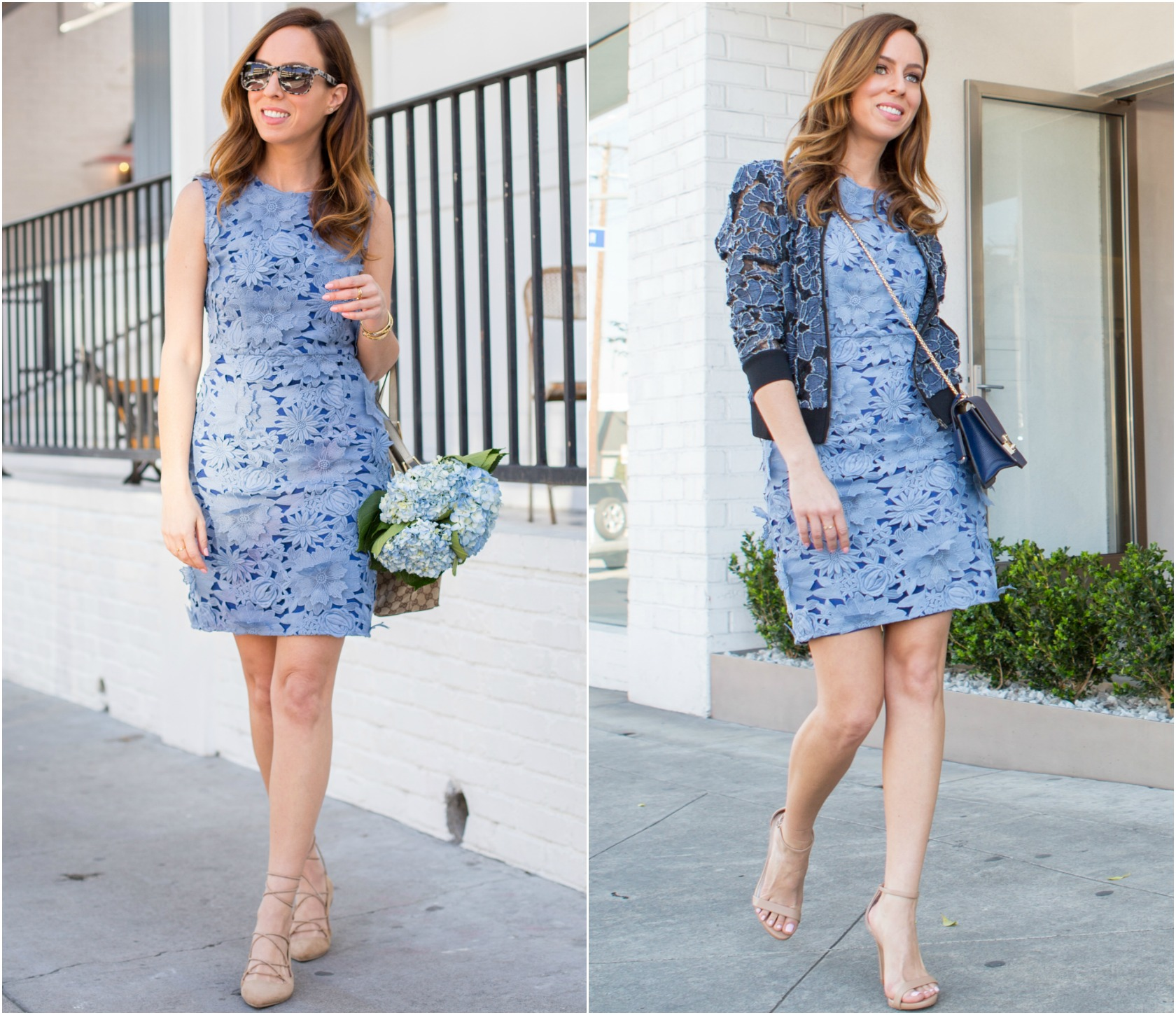 How To Wear Blue Lace Dress