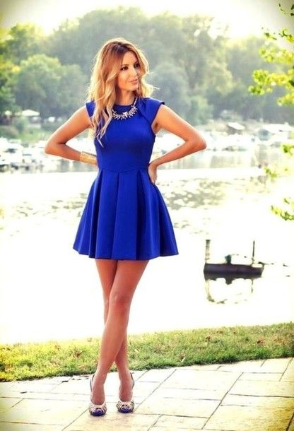 How To Wear Blue Sundress