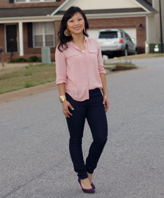 How To Wear Blush Blouse
