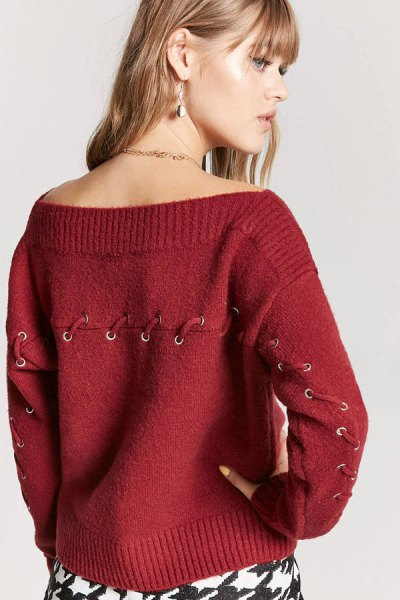 How To Wear Boat Neck Sweaters