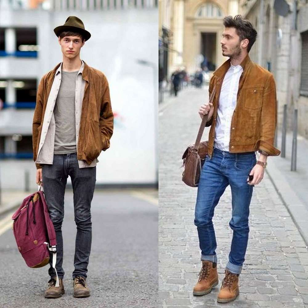 How To Wear Brown Suede Jacket