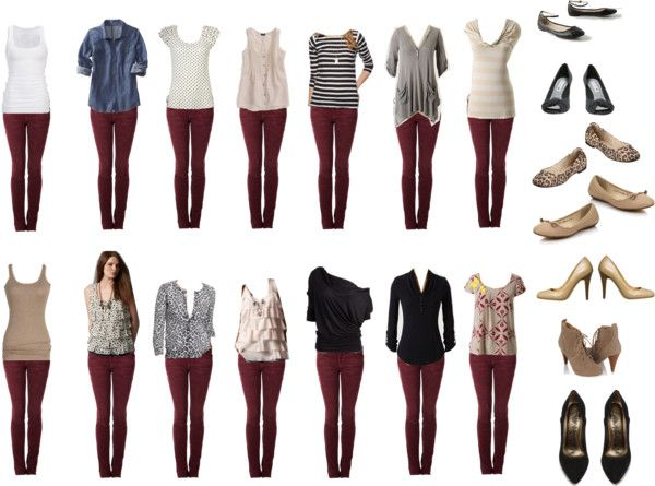 How To Wear Burgundy Jeans