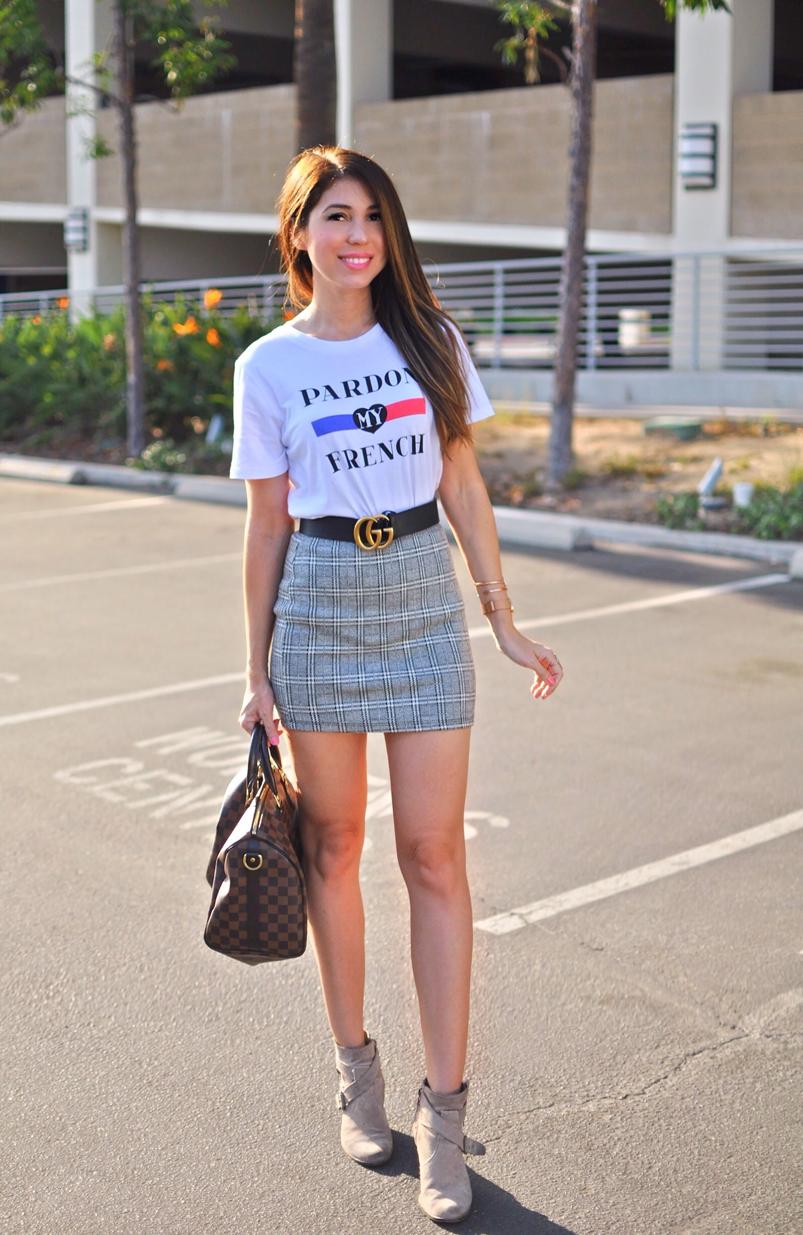 How To Wear Checkered Skirt